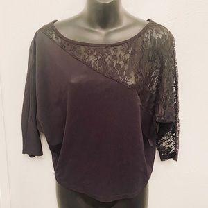 ☀️Mesh black blouse size medium